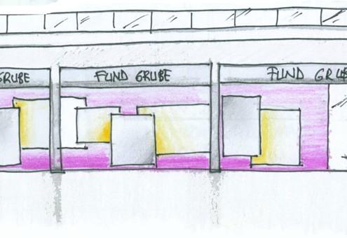 Con Luz Propia- Croquis de la iluminación exterior del comercio Fund Grube